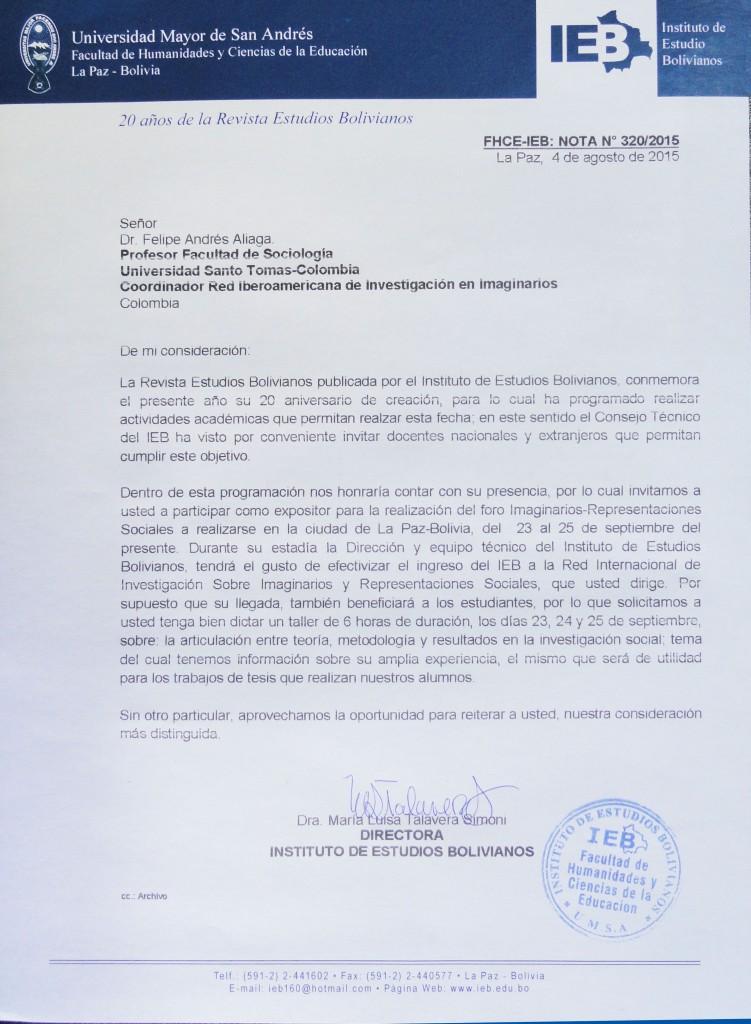 Invitación Dr. Felipe Andres