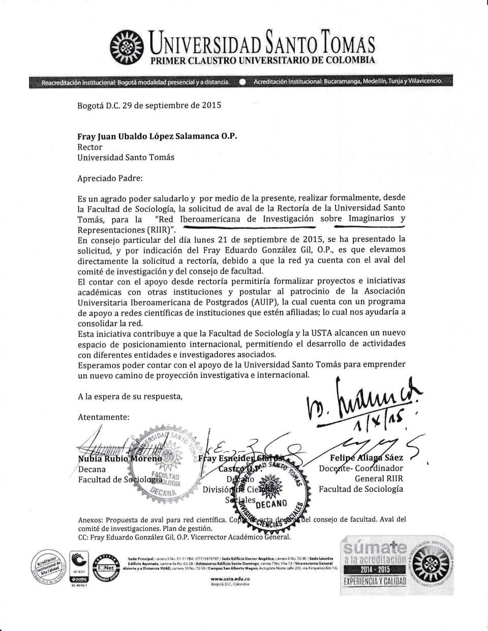 Firma aval rector