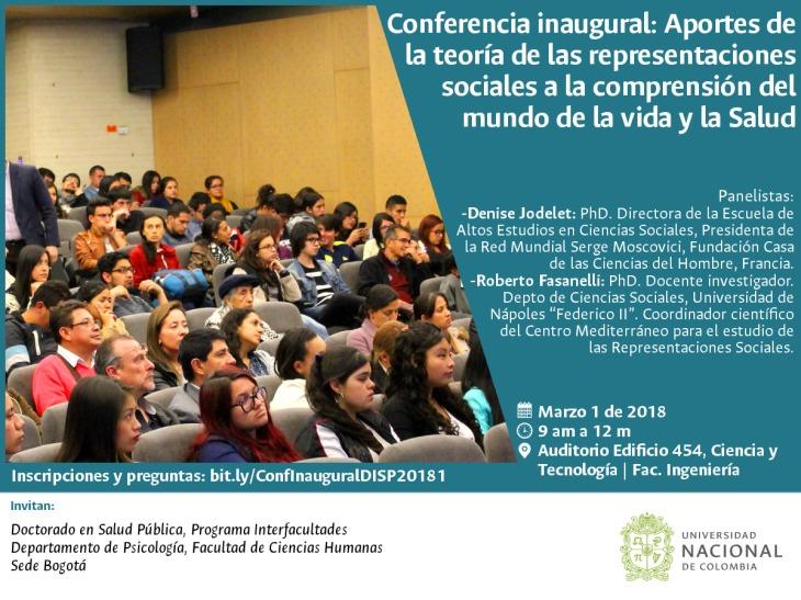 Invitación conferencia Denise Jodelet
