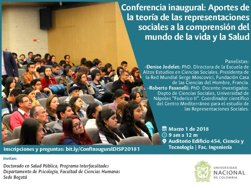 Invitación conferencia Denise Jodelet