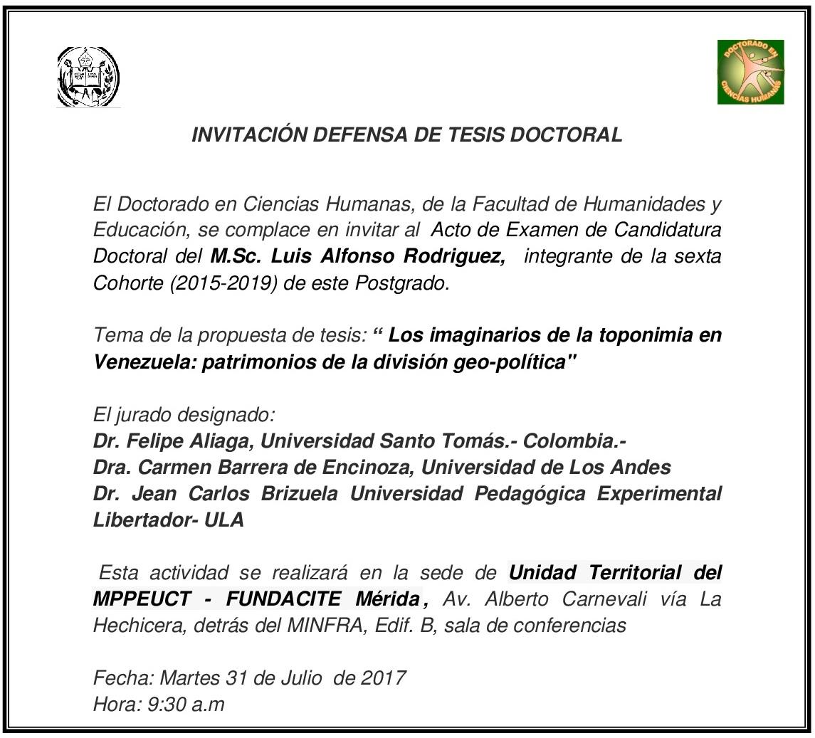 INVITACIÓN Examen de candidatura Luis Alfonso Rodriguez-001