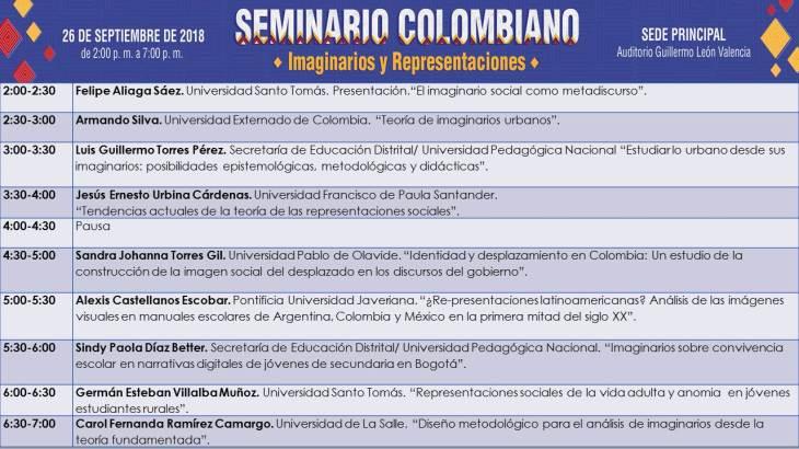 Programa Seminario RIIR Colombia