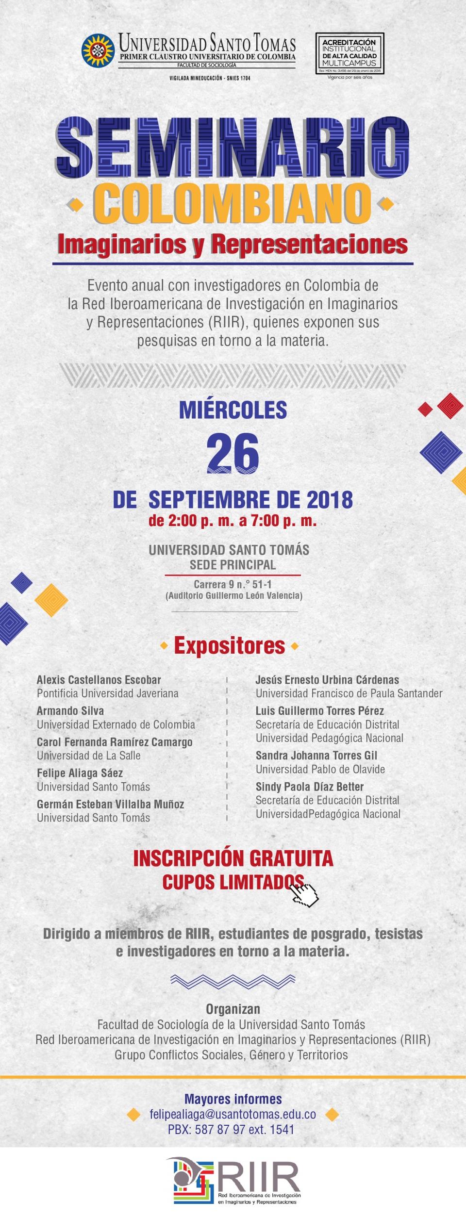 ST 452 Seminario Colombiano Imaginarios y Representaciones Mailling_Mesa de trabajo 1 copia