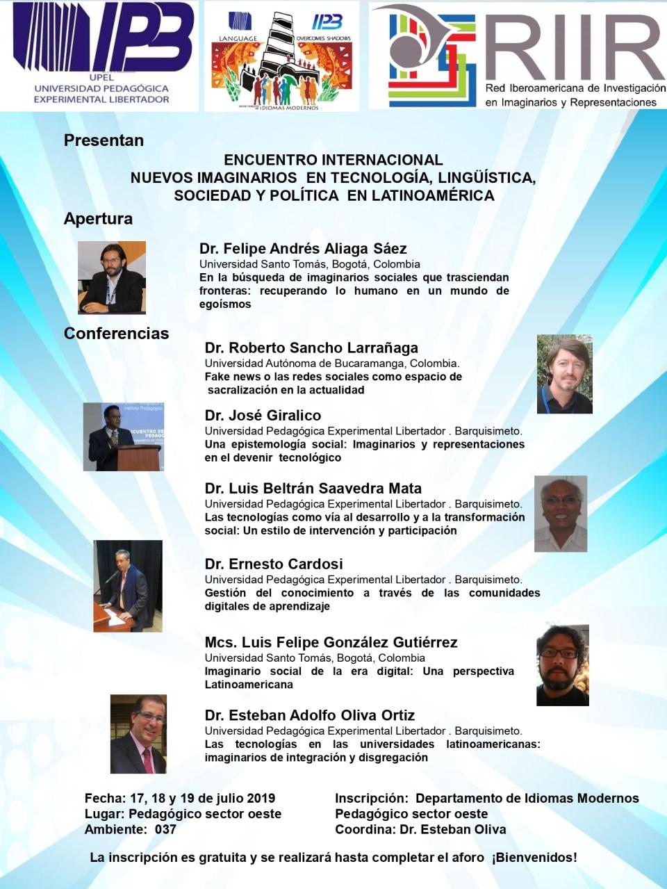 Afiche del evento Nuevos imaginarios en tecnologia_page-0001