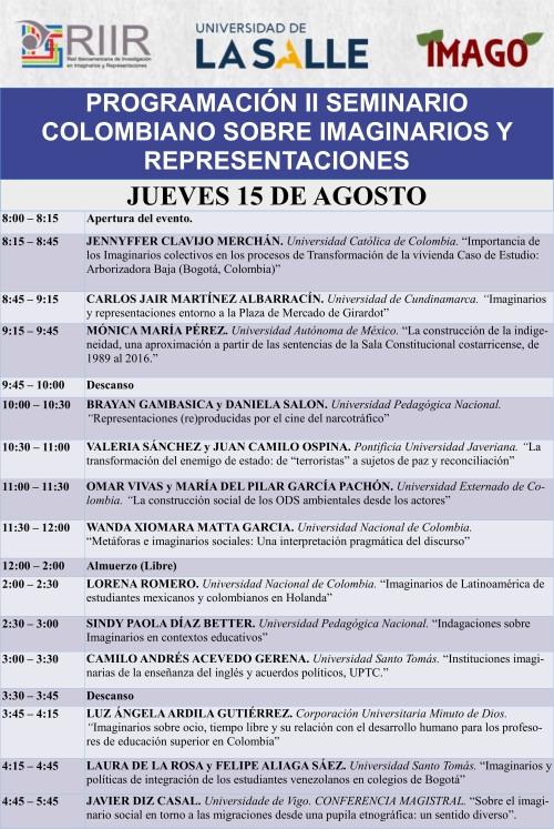 Seminario Colombiano RIIR. 15.08.19